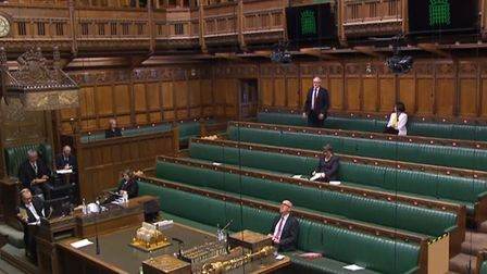 Jeremy Corbyn flouts coronavirus guidance to attend the House of Commons. Photograph: Parliament TV.