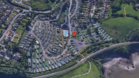 Aerial picture of Waterside Holiday Park in Paignton
