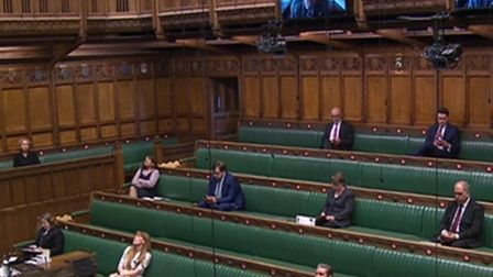 MPs conduct prime minister's questions largely by Zoom in the House of Commons (Pic: Parliament)