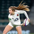 Welwyn Rugby Club's Zoe Harrison in action for England