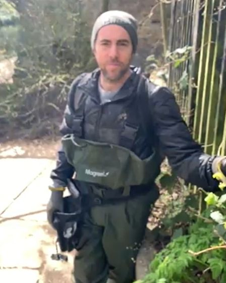 James Cooper pulled a grenade out of the Regent's Canal on March 27.
