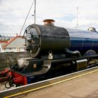 One of the steam trains that run on the Paignton to Kingswear line