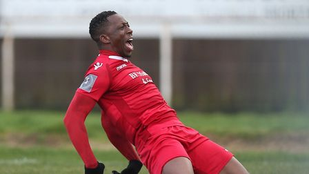 Chris Dickson scored the winning penalty for Hornchurch in their FA Trophy semi-final