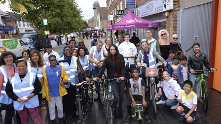 Brent took part in the Car Free Day blocking streets from traffic so families could have fun. Pictur