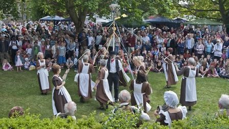 May Day celebrations take place on Eaton Socon village green