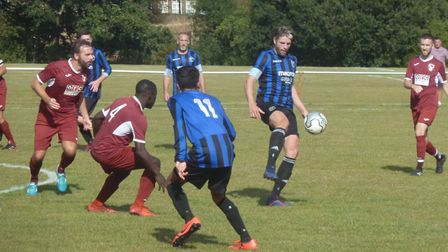 Ash Kersey in action for Letchworth Eagles