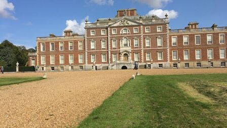 Wimpole Hall owned by the National Trust. The parkland on the Wimpole Estate is open but the mansion is closed.