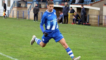 Alex Russell in action for Clevedon Town