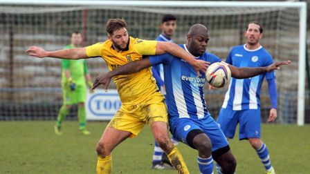 Clayton Fortune in action for Clevedon Town