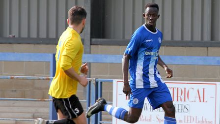 Gambian teenager Saikou Janneh in action for Clevedon Town