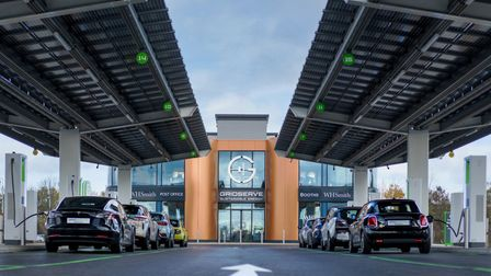 The UK's first Electric Forecourt adjacent to Great Notley, just off the A131.
