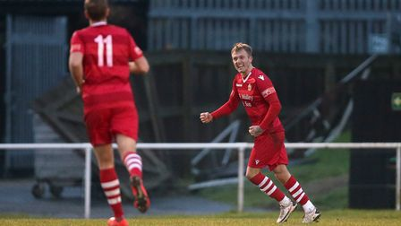 Liam Nash drew Hornchurch level against Notts County in their FA Trophy semi-final