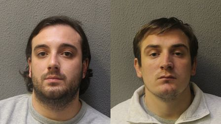 Alfie Atherton (left) and Reed Roberts, who have been jailed for a series of robberies