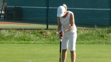 Letchworth Croquet Club players in action