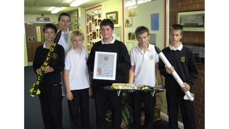 Holywells High School group The Holywells Rocketeers with IT Technician Mr Buchtyar in July 2008