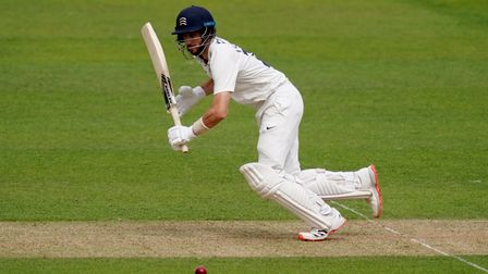 Middlesex's Stevie Eskinazi bats during day one of the Bob Willis Trophy match at the Kia Oval, Lond