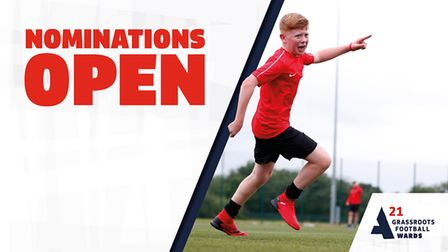 Nominations are open for the 2021 Grassroots Football Awards