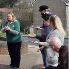 Participants on the Green Skills course held at Great Parks Community Centre in March