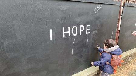 A young boy writes about his hope after Covid.