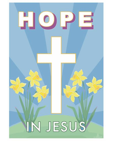 Artist's message of hope poster for Easter
