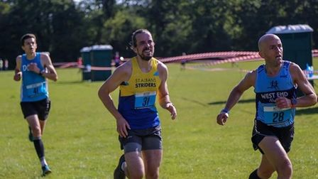 Matt Cooper of St Albans Striders in action during the 2020 St Albans 10K