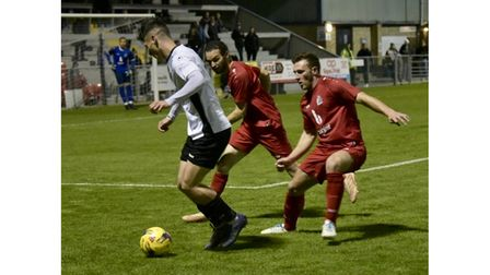 Action from Weston's clash with Harrow Borough
