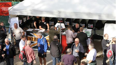 Festival-goersdrinking at a previous St Albans Beer and Cider Festival.