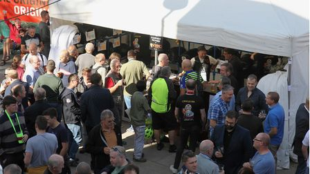 People enjoying a previous St Albans Beer and Cider Festival.