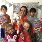 Children enjoying Easter activities at a Portishead holiday club.