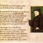 Portrait of Chaucer by Thomas Hoccleve in the Regiment of Princes (1412).