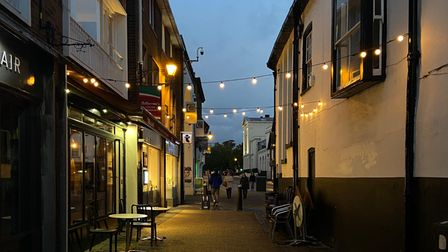 French Row, St Albans at night