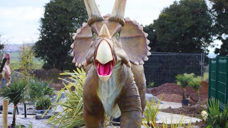 One of the dinosaurs at the Jurassic Links Adventure Golf course at Kingsway Golf Centre