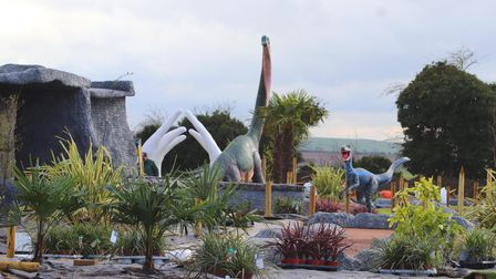 Dinosaurs at the Jurassic Links Adventure Golf course at Kingsway Golf Centre.