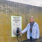 Electric charging points programme launches in Huntingdon.