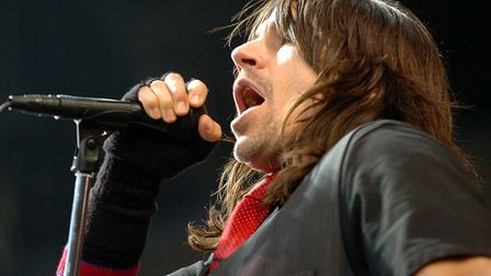 Anthony Kiedis, lead singer of the Red Hot Chili Peppers