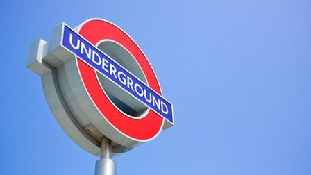 A red and blue underground TfL sign.