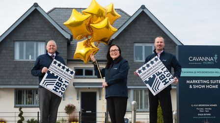 Andy Sykes, head of construction; Kerry Hamer, head of customer servicesand Paul Furner, head of sales at Cavanna Homes