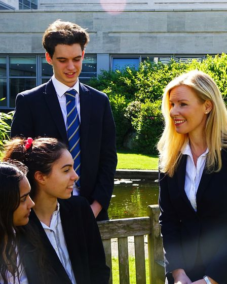 Year 12 and 13 students at Trinity Sixth Form college in Croydon