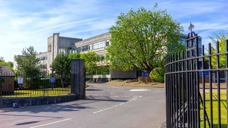 Exterior of Trinity Sixth Form college in Croydon