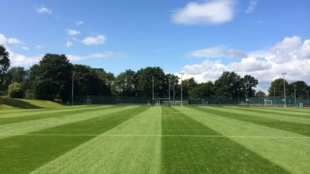 Sports field at Trinity Sixth Form college in Croydon