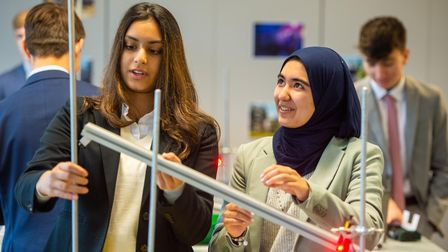 Students taking A-levels at co-educational Trinity Sixth Form in Croydon