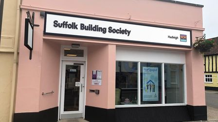 An artist's impression of what theHadleigh branch of Ipswich Building Society will look like after it rebrands.