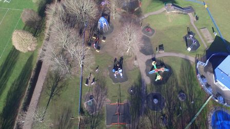 Birdseye view of Fairlands play area