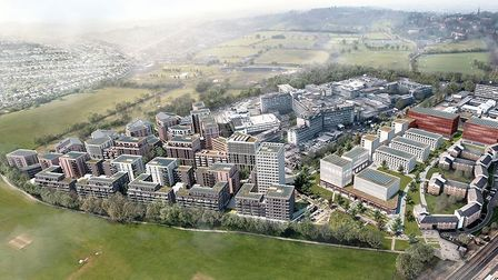 Image of how Northwick Park redevelopment will look