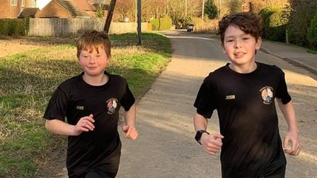 Jake and Josh Trundle of Three Counties Running Club