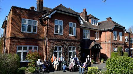 Residents at the Mary Feilding Guild home in Highgate 29.03.21.