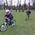Children at Reed First School were given cycling lessons by Hertfordshire Cycle Training