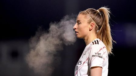 Arsenal's Leah Williamson during the FA Women's Super League match at Kingsmeadow, London. Picture d