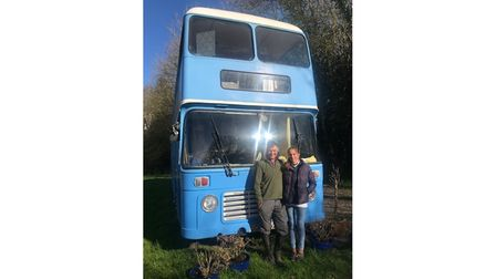 Jimmy and Nikki Frost with their double-decker bus