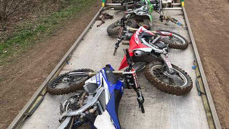 Motorcycles seized by Suffolk Police